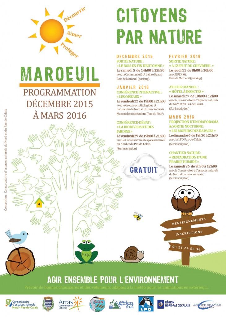 """""""Citoyens par nature"""" : un projet d'écocitoyenneté monté par le Conservatoire d'espaces naturels en collaboration avec la commune de Maroeuil et de nombreux partenaires locaux."""