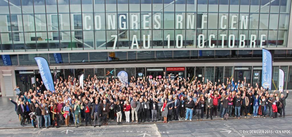 Le congrès commun RNF - FCEN en quelques chiffres : 800 participants, 24 ateliers, 13 visites de sites naturels, 12 forums, 1 journée thématique outre-mer, 20 stands et expositions. (Photo : Eric Dewever)