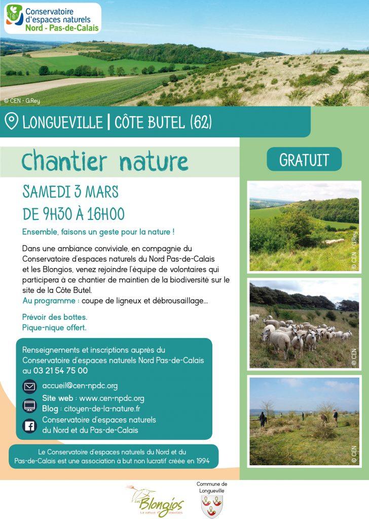Chantier nature : samedi 3 mars 2018 à Longueville