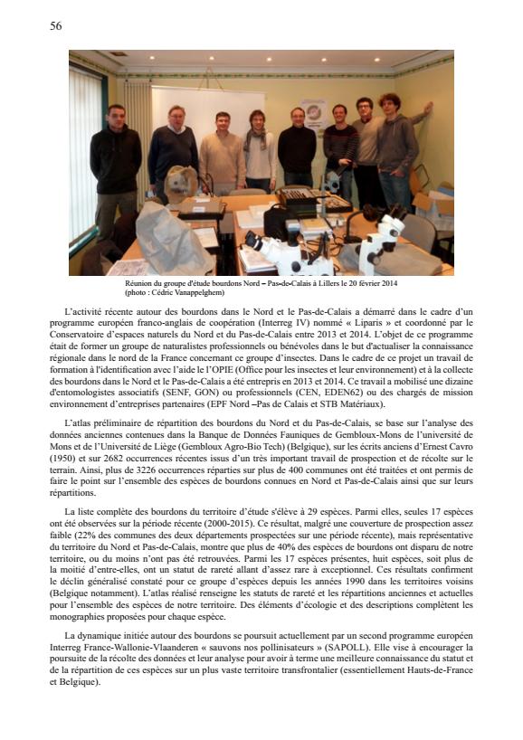 Atlas préliminaire des bourdons du Nord et du Pas-de-Calais : groupe bourdons